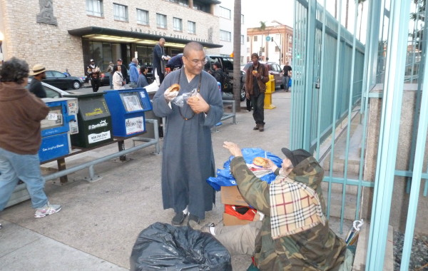 Homeless food distribution