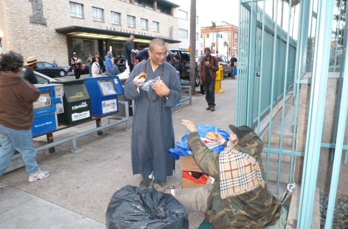 Homeless food distribution